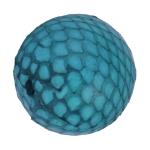 Perle aus Leder, 20mm, rund, türkis