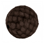 Perle aus Leder, 15mm, rund, dunkelbraun
