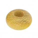 Großlochperle aus Holz (Nangka Wood), 12mm, rund, safrangelb
