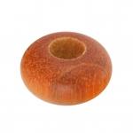 Großlochperle aus Holz (Red Wood), 12mm, rund, honigfarben