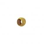 Quetschperlen (50 Stück), 2,2X1,4mm, Metall, goldfarben