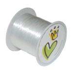 Nylonband (50m), 0,35mm breit, rund, transparent