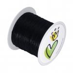 Nylonband (50m), 0,35mm breit, rund, schwarz