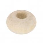 Großlochperle aus Holz (White Wood), 12mm, rund, eierschalen weiß