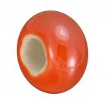 Keramik-Großlochperle (emailliert), 16mm, orange