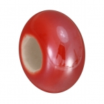 Keramik-Großlochperle (emailliert), 16mm, rot