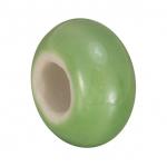 Keramik-Großlochperle (emailliert), 16mm, hellgrün