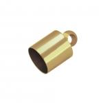 Endkappe mit Öse, Loch-Ø 4mm, 5X9mm, goldfarben