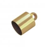 Endkappe mit Öse, Loch-Ø 6mm, 6,5X11mm, goldfarben
