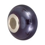 Keramik Großlochperle, 16X11mm, lila farben