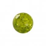 Kristallperle aus Glas, 4mm, khaki-grün