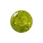 Kristallperle aus Glas, 6mm, khaki-grün