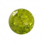 Kristallperle aus Glas, 8mm, khaki-grün
