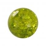 Kristallperle aus Glas, 10mm, khaki-grün