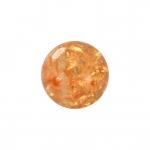Kristallperle aus Glas, 4mm, orange-gelb