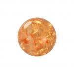 Kristallperle aus Glas, 6mm, orange-gelb