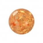 Kristallperle aus Glas, 8mm, orange-gelb