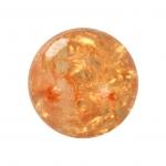 Kristallperle aus Glas, 10mm, orange-gelb