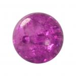 Kristallperle aus Glas, 10mm, lila farben