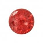 Kristallperle aus Glas, 8mm, rot