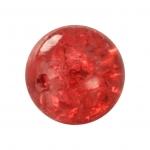 Kristallperle aus Glas, 10mm, rot