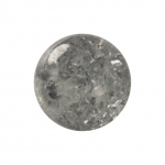 Kristallperle aus Glas, 8mm, grau
