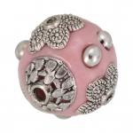 Designerperle aus Fimo, 15mm, rosa