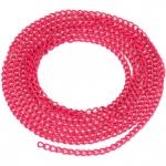 Schmuckkette, 20cm, 3mm breit, dunkelpink