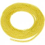 Schmuckkette, 20cm, 3mm breit, zitronengelb