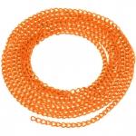 Schmuckkette, 20cm, 3mm breit, orange