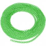 Schmuckkette, 20cm, 3mm breit, grasgrün