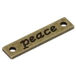 "Metallanhänger ""peace"", 25,5mm, bronzefarben"