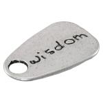 "Metallanhänger ""Wisdom"", 14mm, silberfarben"