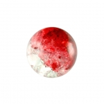 Glasperle in Kristalloptik, 8mm, rund, rot-transparent