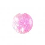 Glasperle in Kristalloptik, 8mm, rund, rosa-transparent