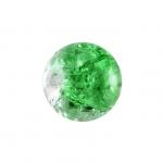 Glasperle in Kristalloptik, 8mm, rund, grün-transparent