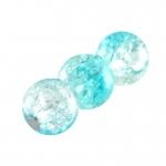 Glasperle in Kristalloptik, 6mm, rund, hellblau-transparent