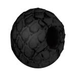 Großlochperle aus Leder, 14X8mm, schwarz