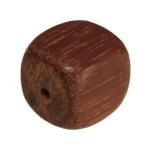 Holzperle (Madre De Cacao), 8mm, Würfel, mittelbraun