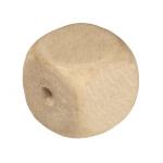 Holzperle (White Wood), 8mm, Würfel, eierschalen weiß