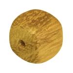 Holzperle (Nangka Wood), 8mm, Würfel, safrangelb