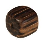 Holzperle (Old Palmwood), 8mm, Würfel, dunkelbraun