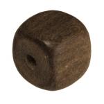 Holzperle (Grey Wood), 8mm, Würfel, walnussbraun