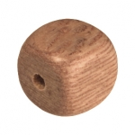 Holzperle (Rosewood), 8mm, Würfel, hellbraun