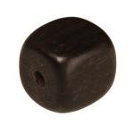 Holzperle (Tiger Ebony Wood / Ebenholz), 8mm, Würfel, dunkelbraun