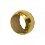4mm große Quetschperlen (25Stück), Metall, goldfarben