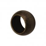 4mm große Quetschperlen (25Stück), Metall, bronzefarben