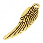 Flügelanhänger, 30mm, goldfarben