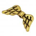 Flügelperle, Metall, 20mm, goldfarben