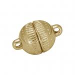 Magnet-Kugelverschluß, 8mm, Metall, goldfarben